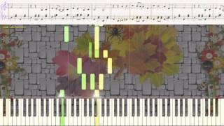 Листья жёлтые - Р. Паулс (легкий вариант)(Ноты и Видеоурок для фортепиано) (piano cover)