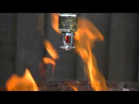 Fire sprinkler test with water