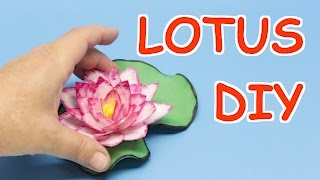 #Plasticbottlecraftideas: How to make lotus flowers from plastic bottles. For this diy project you can reuse any soft white bottles. Just make three sizes of petals (depends on the size of your flower), decorate them with two colors of nail polish and glue them on piece of felt. For the green leaves you can use foam or green cardboard. For an inner piece I used grosgrain ribbon.Subscribe here: http://bit.ly/2ivkoJJIf you enjoy this video, please like, share and comment.Follow me on Facebook: http://bit.ly/2hd20mvFollow me on twitter: http://bit.ly/2pSrEQJMy Doll Dress channel is here: bit.ly/2iv8OhOMain Channel:https://www.youtube.com/recycledbottlescraftPlastic Bottle Craft Ideas: How to Make Lotus Flowers from Plastic Bottles