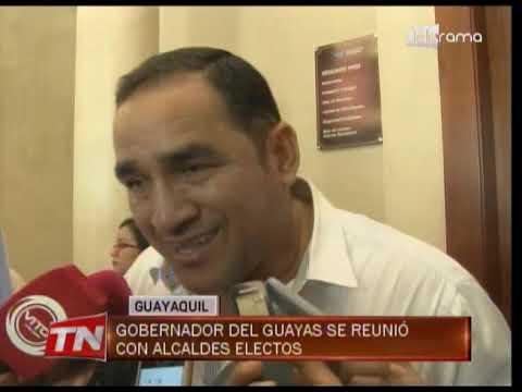 Gobernador del Guayas se reunió con alcaldes electos