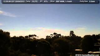 20 April 2013 - North Facing WeatherCam Timelapse - KanivaWeather.com