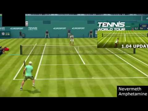 Tennis World Tour 1.04 UPDATE - Roger Federer vs Kyle Edmund - Gameplay