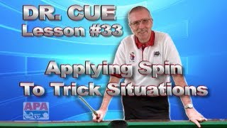 APA Dr. Cue Instruction - Dr. Cue Pool Lesson 33: Application Of Frozen Ball Spins