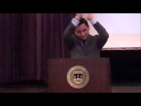 Julian Cardillo delivers a 2014 Brandeis Athletic Department Senior Address