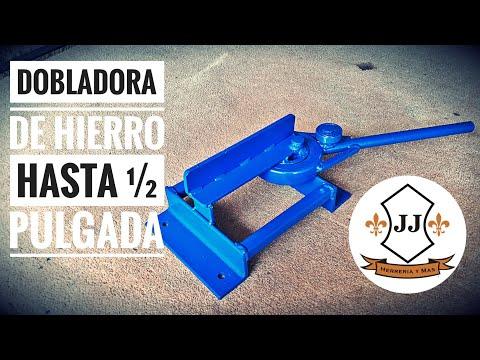 COMO HACER DOBLADORA DE HIERRO HASTA ½ PULGADA FÁCIL Y SENCILLO