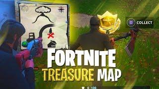TREASURE MAP **SOLVED** (Hidden Treasure Challenge) - Fortnite: Battle Royale