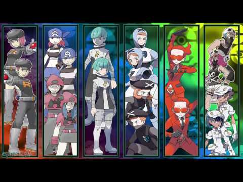 All Pokémon Villainous Team Grunt Battle Themes [GEN 1-7]