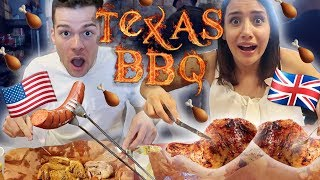 British FIRST TIME Trying Texas BBQ Food