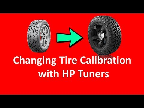 How to Change Tire Calibration in HP Tuners видео