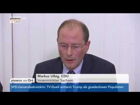 Dresden: Anschläge in Dresden - Pressekonferenz der P ...