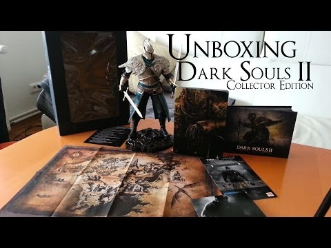 Unboxing Dark Souls 2 Collector Edition Steelbook Figur Artbook PC DVD Hülle German Deutsch