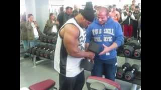 Kai Greene Hammer Gym 2012