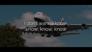 Maroon 5 (ft. Kendrick Lamar) - Don't Wanna Know (Lyric Video) (Official Audio) Video