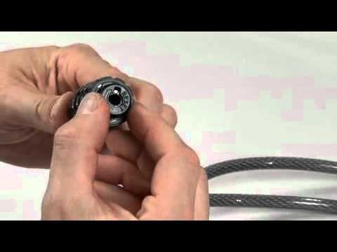 Set-Your-Own-Combination Cable Lock: Operating Instructions