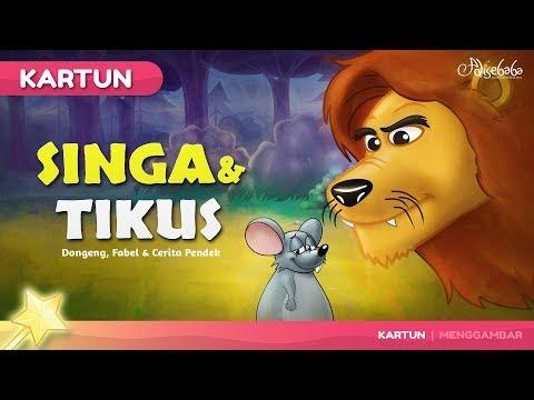 Singa dan Tikus   Kartun Anak - Dongeng Bahasa Indonesia