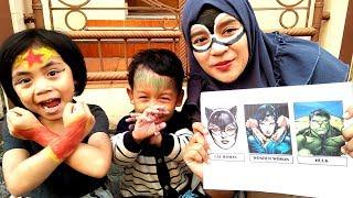 Video Challenge Face Painting Yaya Jadi Super Hero Wonder Woman MP3, 3GP, MP4, WEBM, AVI, FLV Agustus 2018