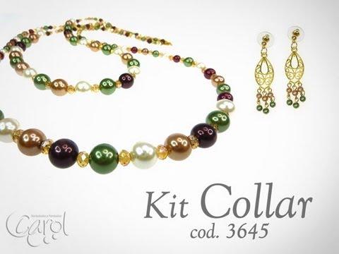 Kit 3645 Kit collar perlas colores x und