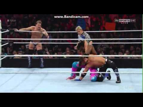 AJ Styles Chris Jericho Vs The New Day 29.2.16