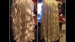 Just a quick work log video of my progress with styling my Daenerys wig!! From start to finish, it took me just about two hours (not...