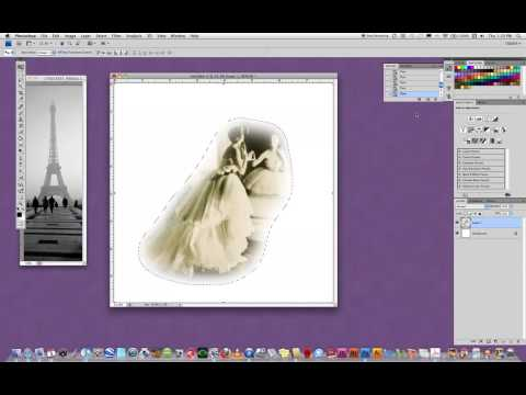 Feather command in Photoshop