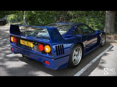 blue ferrari f40 with tubi exhaust