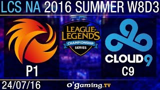 Cloud9 vs Phoenix1 - LCS NA Summer Split 2016 - W8D3