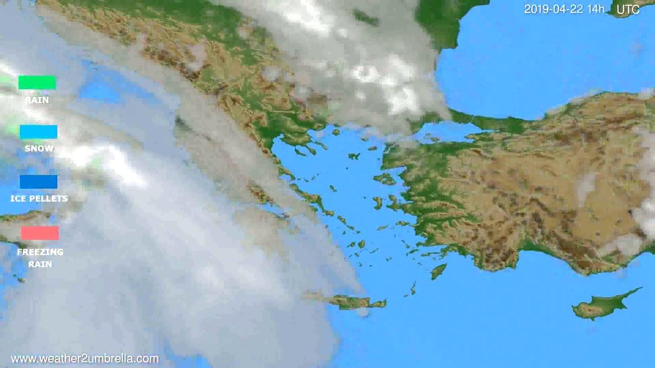 Precipitation forecast Greece // modelrun: 00h UTC 2019-04-20