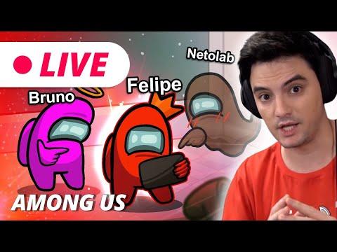 LIVE - AMONG US - JOGANDO DE VERMELHO CONTRA NETOLAB