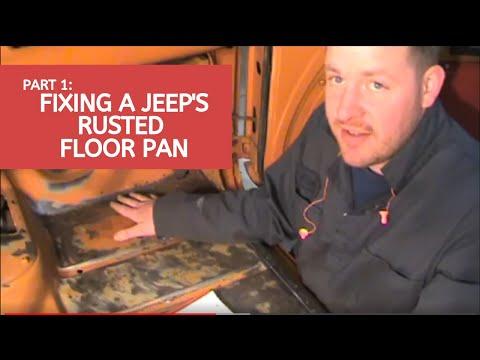 Jeep Floor Pan Rust Repair Video 1