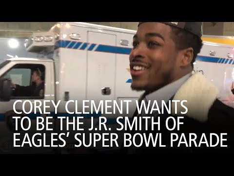 Corey Clement Wants To Be The J.R. Smith Of Eagles' Super Bowl Parade (видео)