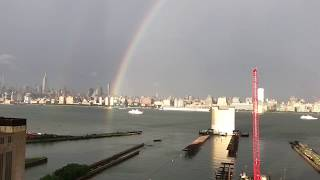 This double rainbow was spotted on the evening of July 1, 2017 after a line of strong thunderstorms passed through the New York City area.Copyright: ACG Travel VideosNot for broadcast unless permission granted.ACGTravelVideos@gmail.com