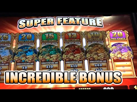 5 FROGS INCREDIBLE SUPER FEATURE BIG WIN SLOT MACHINE BONUS
