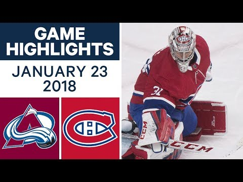 Video: NHL game in 4 minutes: Avalanche vs. Canadiens