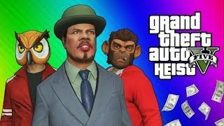 GTA 5 Heists #2 - Nogla's Outfits & Epic Car Chase! (GTA 5 Online Funny Moments) [Part 1]