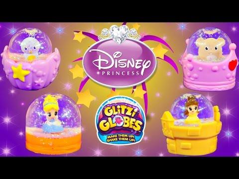 Glitzi Globes Ring Disney Princess Belle & Cinderella Glitter Toys by DCTC Joyas de la Princesa