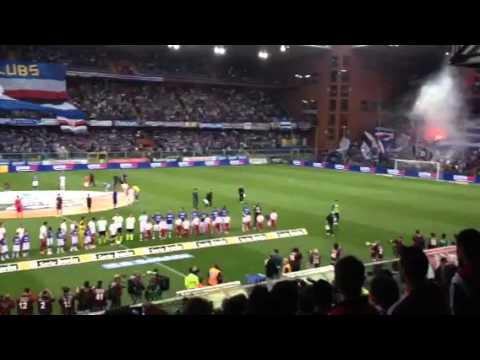 Sampdoria-Varese, inno nazionale