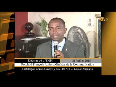 Gamall Augustin nouveau dirécteur gnl. de la RTNH, mardi 21 juillet 2015