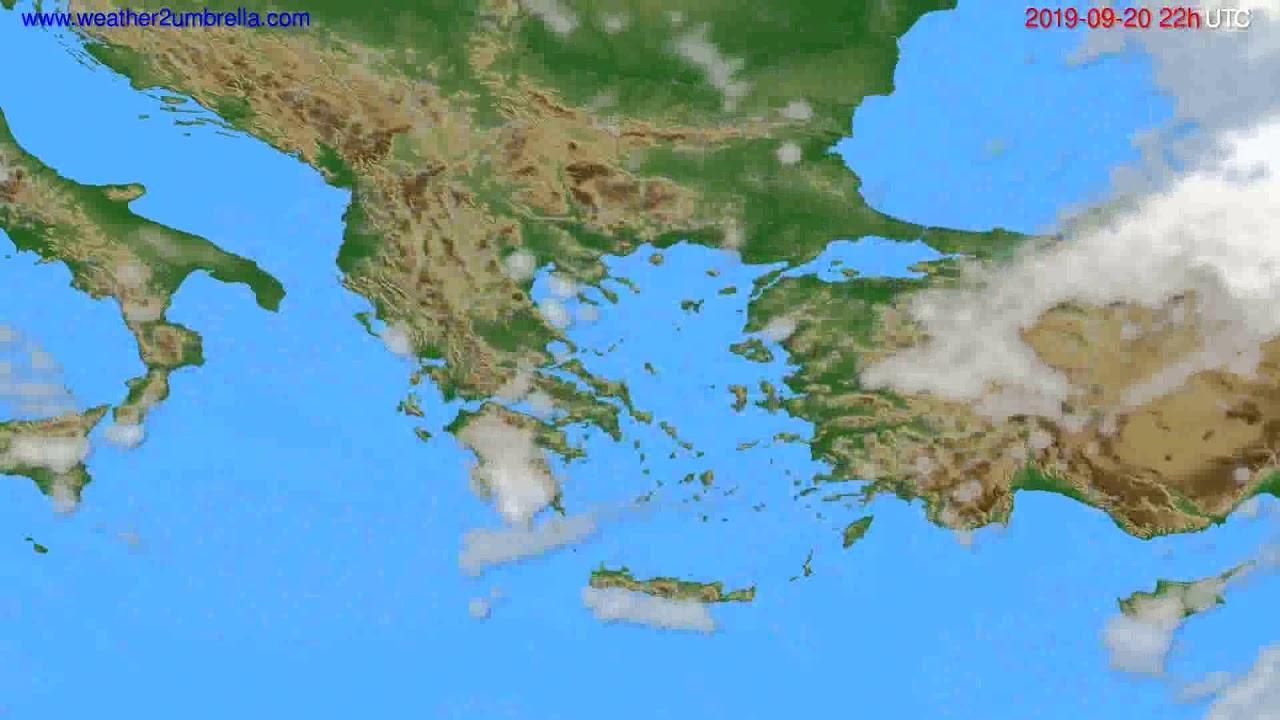 Cloud forecast Greece // modelrun: 12h UTC 2019-09-18