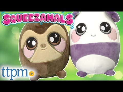 Squeezamals Sam Sloth and Penny Panda from Beverly Hills Teddy Bear Company