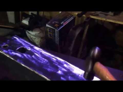Anvil Repair using Lincoln wearsheild 15CrMn