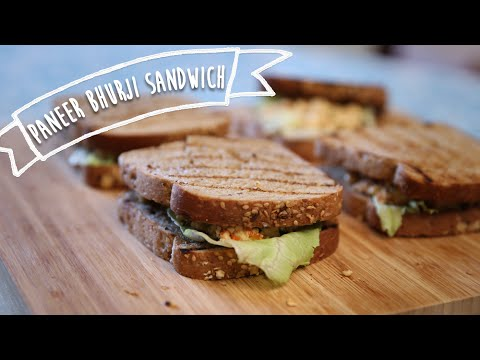 Paneer Bhurji Sandwich | Delicious Snack / Tiffin Recipe | Kiddie's Corner With Anushruti