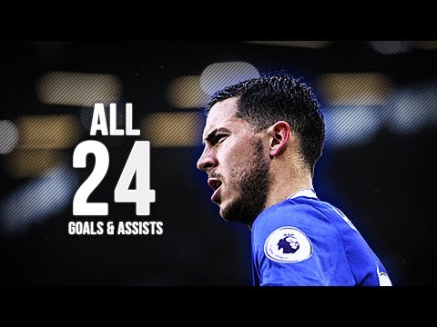 Eden Hazard - All 24 Goals & Assists - 2016/17