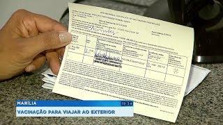 Vacinação: certificado internacional é exigido por alguns países e pode se solicitado em Marília