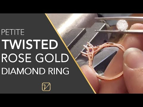 1ct ROSE GOLD ENGAGEMENT RING | Petite Twisted Engagement Ring | Vanessa Nicole Jewels