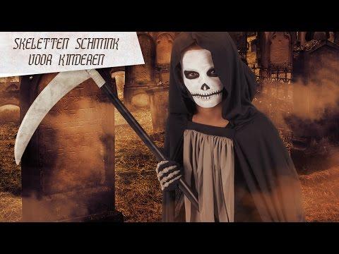 Magere Hein Halloween schmink voor kinderen