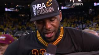 LeBron James Posts Triple Double in 2016 NBA Finals Game 7 Win