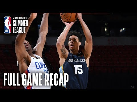 Video: GRIZZLIES vs CLIPPERS | 1st Round Pick Brandon Clarke Leads Memphis | MGM Resorts NBA Summer League