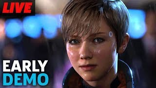 Testing Out Detroit Become Human Demo Live by GameSpot