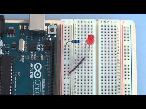 Arduino Uno Tutorial Basic Circuit Breadboarding