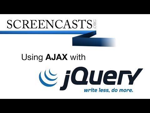 Using AJAX with jQuery